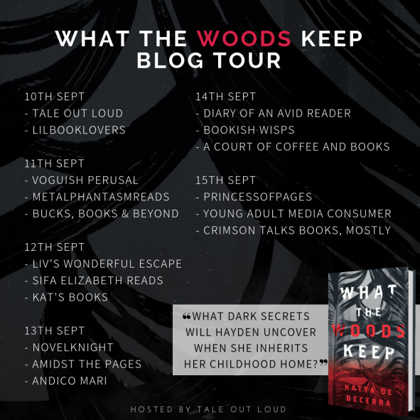 What the Woods Keep Blog Tour Schedule